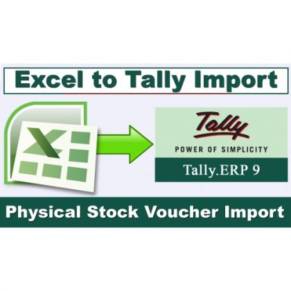 Excel Import | Physical Stock Voucher