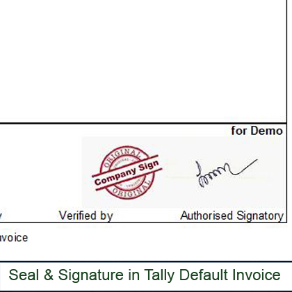 Seal & Signature In Sales Invoice