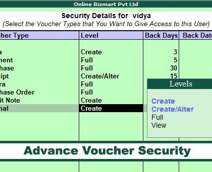 Advance Voucher Security