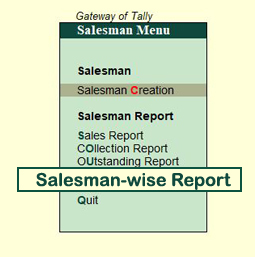 Salesman-wise Report
